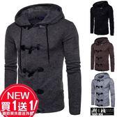 『潮段班』【HJ000M55】外套買一送一 日韓流行秋冬新款 加厚毛衣外套 針織外套 牛仔扣外套