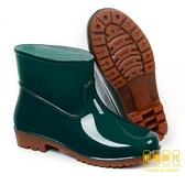 雨鞋女防水短筒水鞋低筒廚房防滑雨靴女士耐磨勞工鞋膠鞋【輕奢時代】