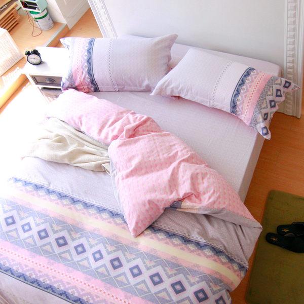 被套床包組/雙人-純棉薄被套床包組/拉斐爾[鴻宇]-ML1363