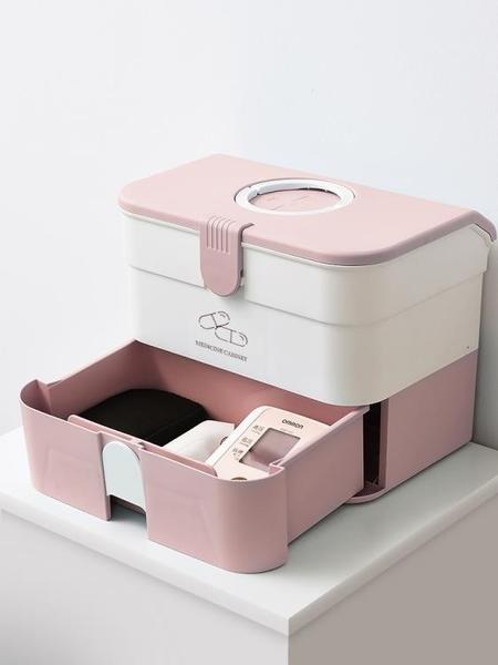 醫藥箱家用大容量藥品收納盒家庭裝家庭醫護兒童藥箱藥盒收納箱小魔方數碼