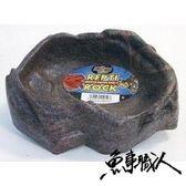 ZOO-MED 美國【小型石製原始水盤 (13.5*13cm)】泡水 降溫 食盆 紅腿 亞達 蘇卡達 魚事職人
