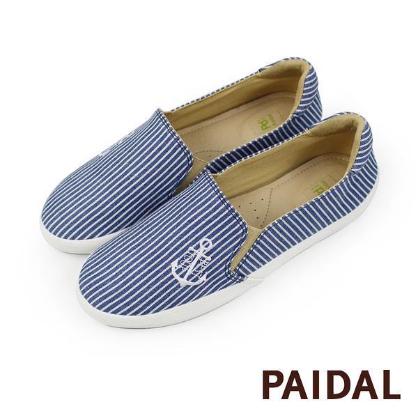 Paidal 海洋風海錨條紋款休閒鞋樂福鞋懶人鞋