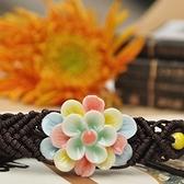 陶瓷手環-彩色花朵生日情人節禮物女串珠手鍊73gw107[時尚巴黎]