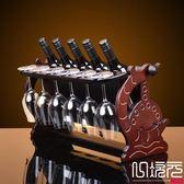 新款木制酒架紅酒架歐式葡萄實木酒架酒杯架倒掛酒柜擺件一次元