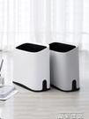 垃圾桶雙層衛生間夾縫垃圾桶窄家用客廳廚房廁所紙簍創意網紅拉圾桶大號 晶彩