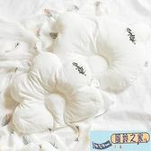 嬰兒枕頭四季通用透氣定型枕扁頭糾正偏頭新生兒寶寶枕云朵0-1歲【風鈴之家】