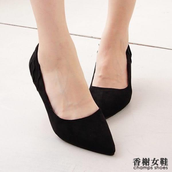 紅底純色絲絨6.5CM中跟鞋 香榭