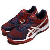 【六折特賣】Asics 排羽球鞋 Gel-Tactic 紅 白 舒適緩震 羽球 排球 女鞋 運動鞋【PUMP306】 B752N-4901