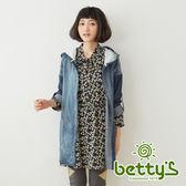 betty's貝蒂思 率性牛仔仿舊連帽外套(牛仔藍)