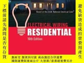 二手書博民逛書店Electrical罕見Wiring Residential-住宅電氣布線Y443421 Ray C. Mul