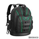 【工具收納後背包(黑綠)】工具收納包 工具袋 收納工具後背包 帆布工作包 後背工具包 電工專用