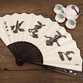 和扇堂10寸鏤空雕刻扇骨中國風男扇子絲綢摺扇古典竹扇工藝扇 祕密盒子