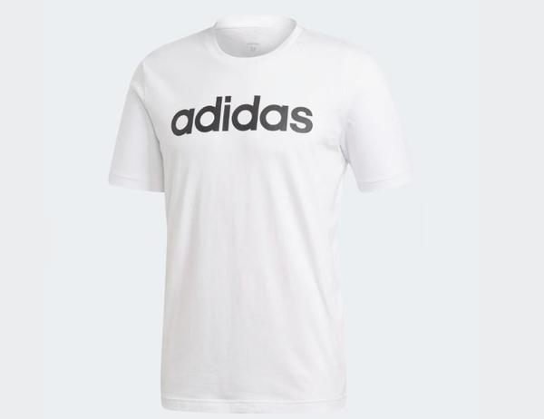 Adidas ESSENTIALS LINEAR LOGO TEE 男款白短T-NO.DQ3056