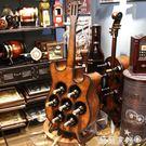 紅酒櫃 歐式木質大吉他收納櫃酒櫃酒莊紅酒置物架儲物櫃酒吧餐廳復古酒架 MKS雙11