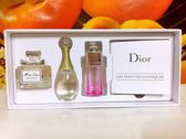Dior 迪奧 J'adore 香氛 淡香精 5ml +MISS DIOR 淡香精5ML+迪奧癮誘魔力淡香水5ML 百貨公司專櫃盒裝