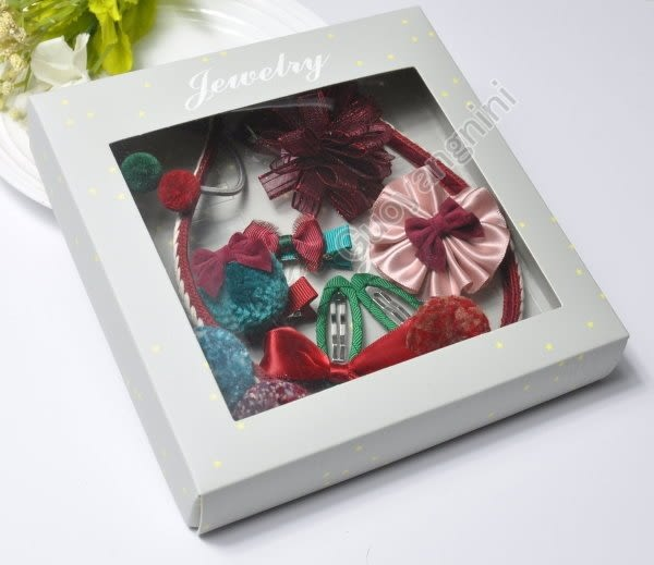現貨 禮盒髮飾組合 進口緞帶高級8件組 寶寶髮夾/兒童夾/新年送禮 嬰兒髮飾【H7937】