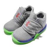 Nike Kyrie 5 TD Wolf Grey Lime 灰 綠 籃球鞋 Irving 5代 童鞋 小童鞋 運動鞋【PUMP306】 AQ2459-099