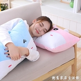 卡通創意學生宿舍枕頭大抱枕睡覺長條抱枕可愛獨立內膽可拆洗女孩