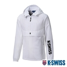 K-SWISS Semi Zip Open Jacket防風上衣-女-白