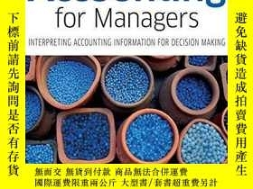二手書博民逛書店Accounting罕見for Managers: Interp