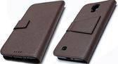 Samsung GALAXY MEGA 6.3吋(GT-I9200) 真皮側翻手機保護皮套 荔枝紋 內TPU軟殼全包