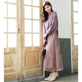 秋冬新品[H2O]側邊開叉蕾絲裝飾連帽棉質上衣 - 卡/淺綠/淺藍/淺紫色 #0631007