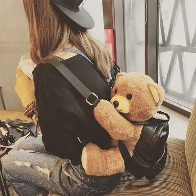 可愛趴趴熊雙肩包時尚後背包女包....流行線