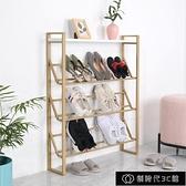 鞋櫃 網紅鞋架家用室內門口鞋櫃拖鞋收納架經濟型多層簡易斜放式鞋架子