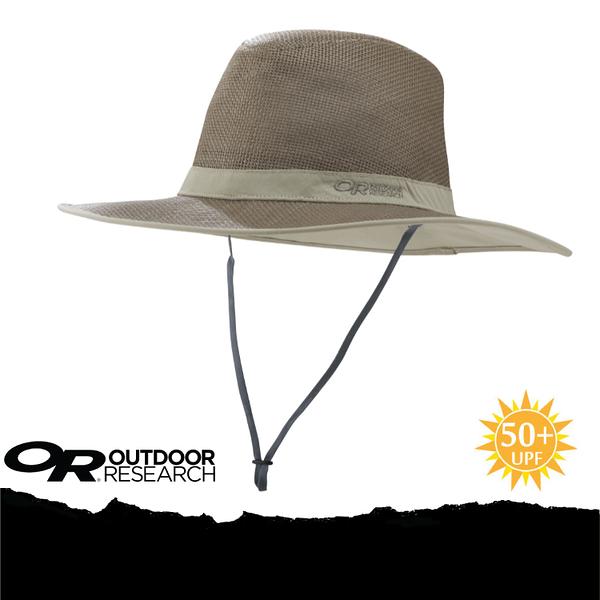 【Outdoor Research 美國 OR PAPYRUS BRIM SUN HAT 抗UV透氣紙草編織帽《核桃棕》】243408-0824/UPF50+