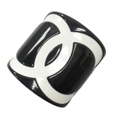 CHANEL 香奈兒 黑X白壓克力logo裝飾品 擺飾品 絲巾釦環 2005 【BRAND OFF】