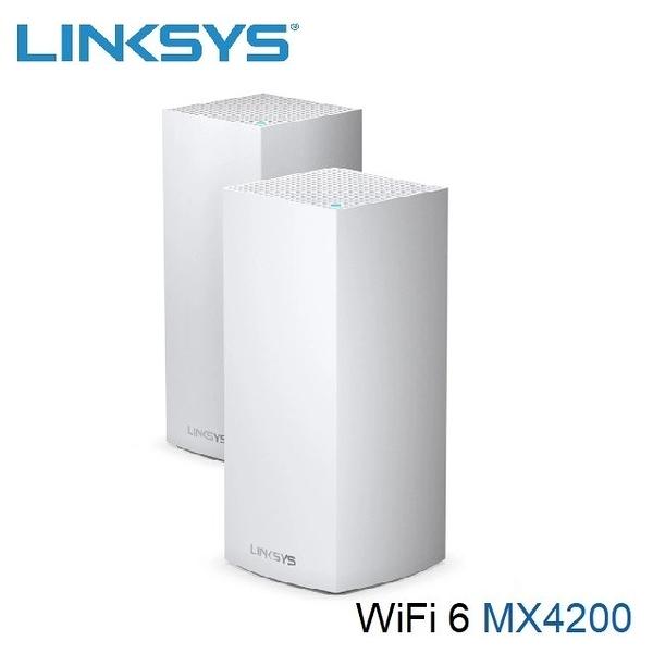 【南紡購物中心】Linksys Velop 三頻 MX4200 Mesh WiFi6網狀路由器(二入) (AX4200)