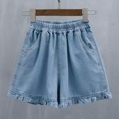 新品碼牛仔短褲女寬鬆休閒闊腿褲超大碼薄款熱褲 - 歐美韓熱銷