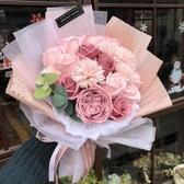 特賣母親節禮物花束康乃馨女友生日禮物仿真假花肥皂香皂花玫瑰伊蘿精品