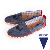 【VERBENAS】Tabarca塔巴卡螃蟹圖案牛仔丹寧草編鞋/男仕休閒鞋  藍色(075-DGY)