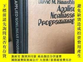 二手書博民逛書店Applied罕見nonlinear programming 【
