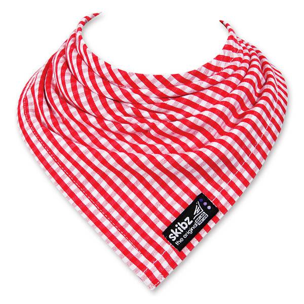 英國Skibz紅格子時尚經典領巾