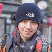 秋冬季男士帽子戶外運動抓絨毛線包頭護耳韓版 針織加厚冬天保暖