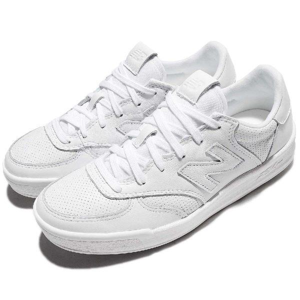 New Balance 復古休閒鞋 NB 300 白 全白 小白鞋 女鞋 N字鞋 皮革鞋面 低筒 韓妞必備【PUMP306】 WRT300SBD