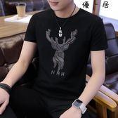 短袖t恤男士圓領打底衫韓版上衣Y-3657