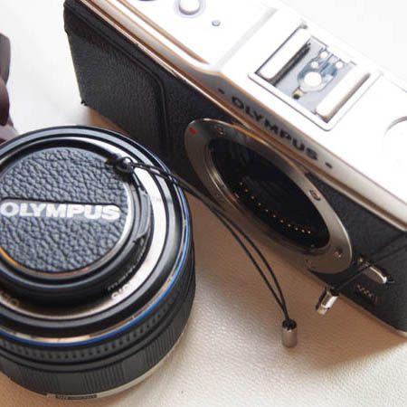(BEAGLE) 真皮相機專用鏡頭蓋防丟蒙皮貼 CANON E52II 頭蓋貼 鏡頭蓋防丟繩-EOS M/M2/M3鏡頭蓋專用