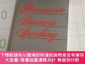 二手書博民逛書店Persuasive罕見Business SpeakingY13534 ELAYNE SNYDER ELAYN