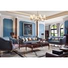 [紅蘋果傢俱]美式歐式 8802#沙發1+2+3(8803#茶几/方几) 套組 沙發 皮沙發 沙發組 客廳