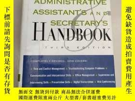 二手書博民逛書店Administrative罕見Assistant s and Secretary s Handbook【行政