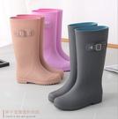 雨靴 雨鞋女士成人防水鞋高筒水靴子雨靴加...