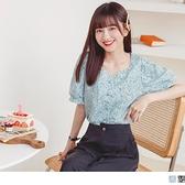 《AB15426》愛心領春漾花卉雪紡襯衫/上衣 OrangeBear