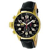 【INVICTA】小勞勃道尼系列 - 黑金皮錶帶