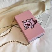 小包包女2020新款韓版可愛小豬豬單肩斜挎盒子包錬條百搭小方包潮 自由角落