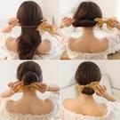 扎丸子頭碎花盤髮器造型器韓國頭飾百變蓬松花苞頭懶人髮圈神器女