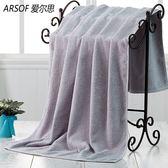 浴巾吸水素色男女情侶家用柔軟便捷旅游洗澡巾兒童加大毛巾秋