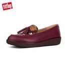 印花皮革設計/流蘇裝飾 防滑橡膠鞋底 雙密度紓壓中底